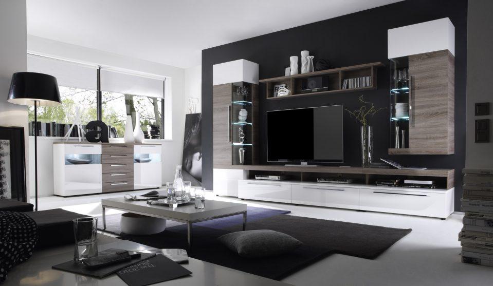 Wohnzimmer Schrankwand Modern Luxus Frisch On überall Uncategorized Geräumiges Mit 2