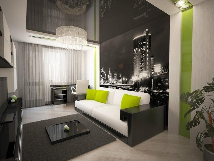 Wohnzimmer Schwarz Grün Einzigartig On In Modern Grau Amocasio Com 3