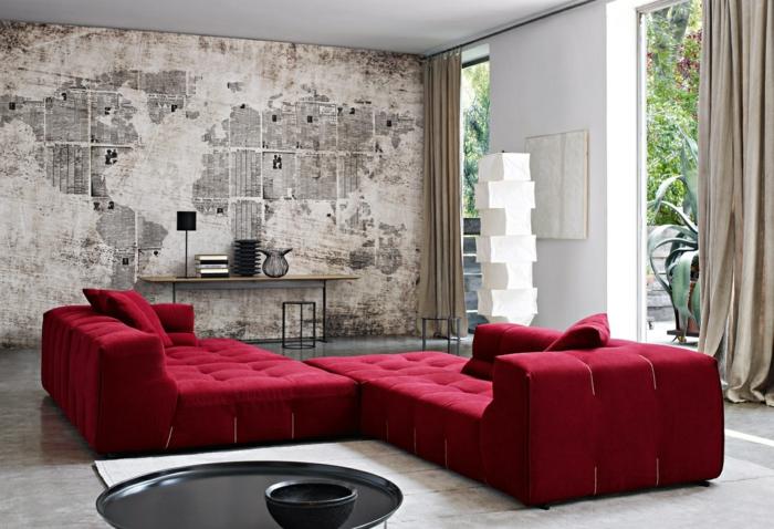 Wohnzimmer Tapezieren Ideen Zeitgenössisch On überall 71 Tapeten Wie Sie Die Wohnzimmerwände Beleben 2