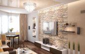 Wohnzimmer Wände Modern Mit Tapete Gestalten
