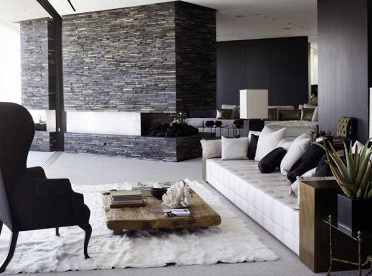 Wohnzimmer Weiß Braun Schwarz Modern On Und Wohndesign 1