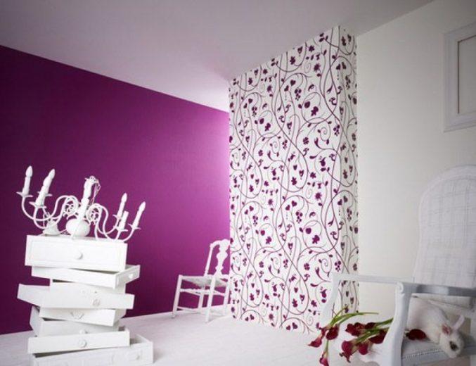 Zimmer Lila Weiß Streichen Wunderbar On Andere In Bezug Auf Geschickt Title Amocasio Com 1