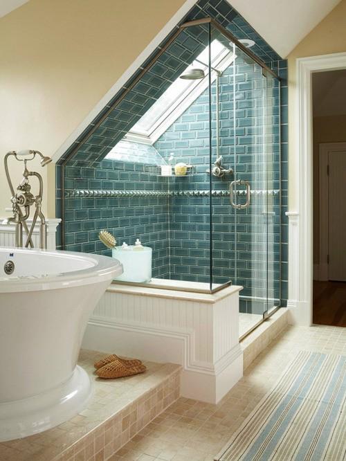 Ausgezeichnet On Badezimmer Beabsichtigt 27 Design Ideen Für Mit Dachschräge 5