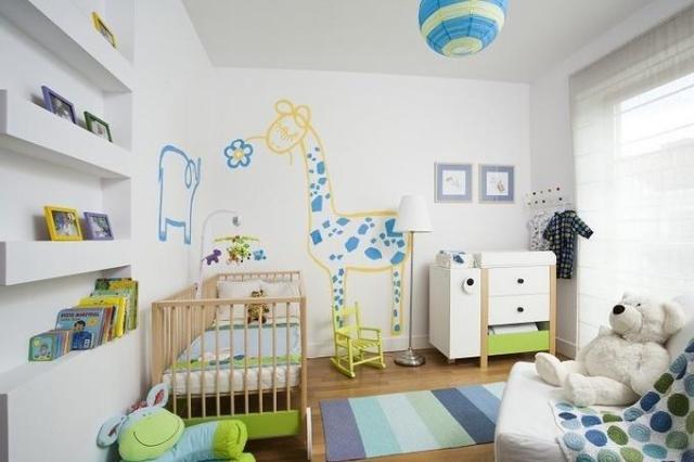Babyzimmer Wandgestaltung Einfach On Andere Und Farb Im Kinderzimmer 77 Tolle Ideen 6