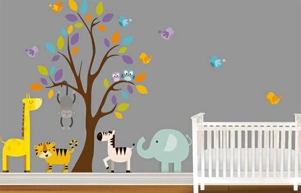 Babyzimmer Wandgestaltung Erstaunlich On Andere In Bezug Auf 15 Wanddeko Ideen Mit Tieren 5