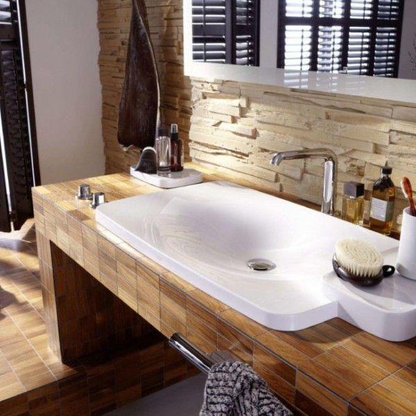 Bad Ideen Holz Wunderbar On Mit Wohndesign Dekorativ Badezimmer Bathrooms 2