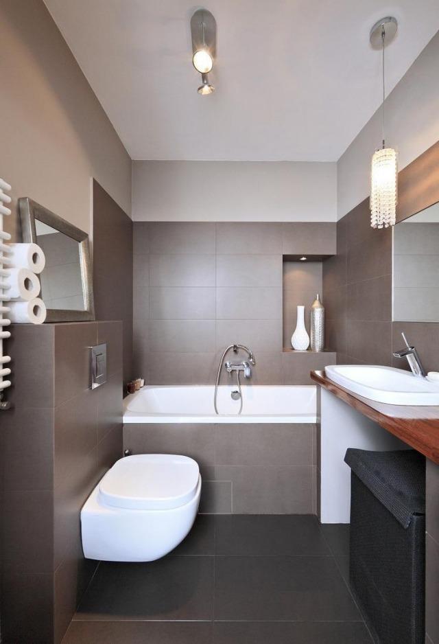Bad Modern Braun Interessant On In Bezug Auf Optimal Gestalten Gerüst Mit Badezimmer Beige 1