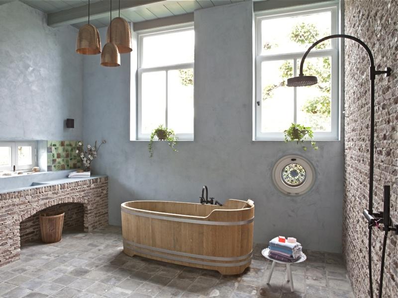 Bäder Landhausstil Kreativ On Andere Beabsichtigt Badezimmer Einrichten Im Rustikalen 1