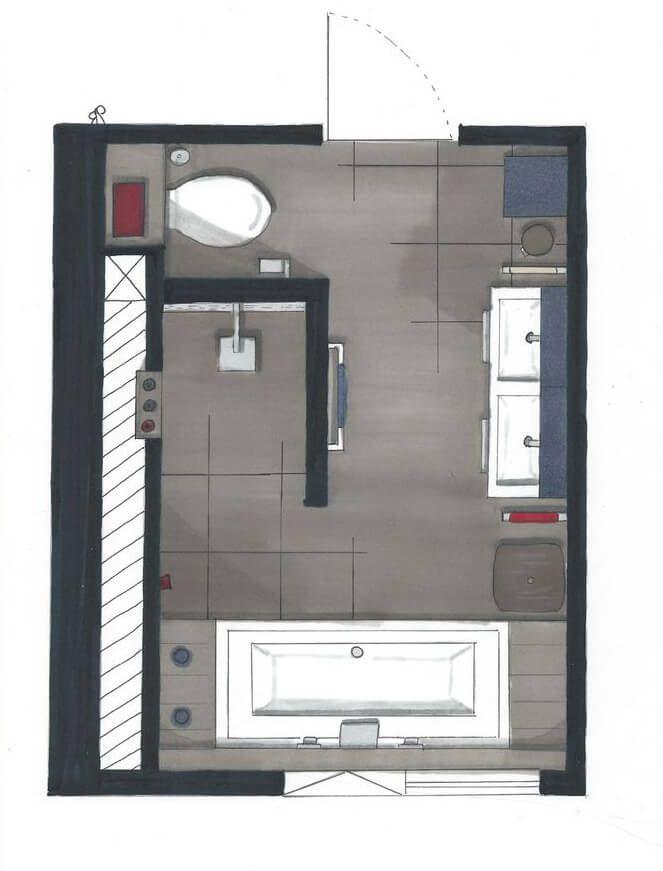 Badezimmer Aufteilung Fein On Für Die Besten 25 Grundriss Ideen Auf Pinterest 5