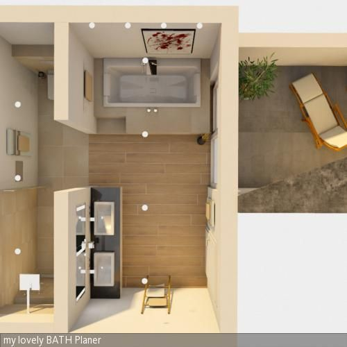 Badezimmer Aufteilung Zeitgenössisch On überall Badplanung Grundriss Grundrisse Und Bäder 7