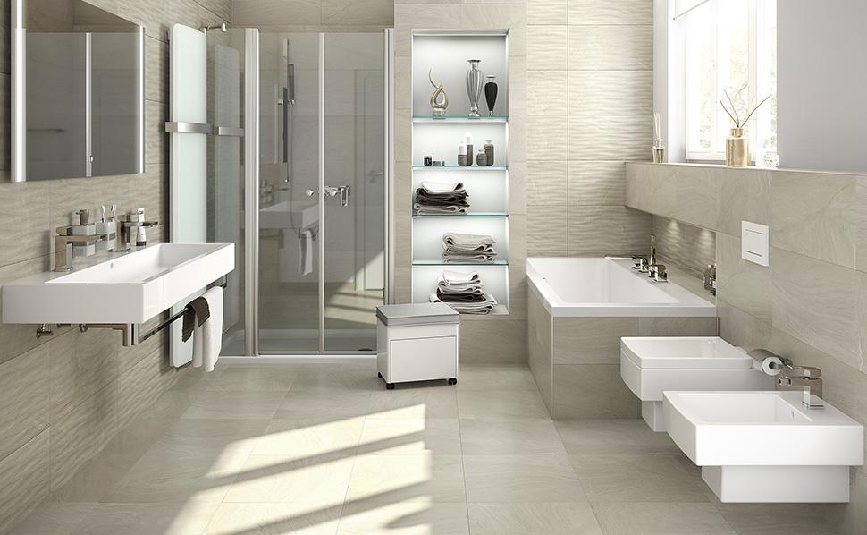 Badezimmer Bilder Zeitgenössisch On In Musterbäder Ideen Von HORNBACH 1