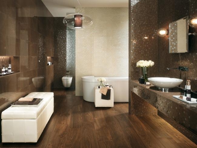 Badezimmer Braun Beige Exquisit On Auf Ideen Design 4