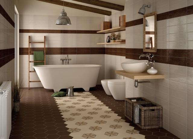 Badezimmer Braun Beige Interessant On Für Design 9