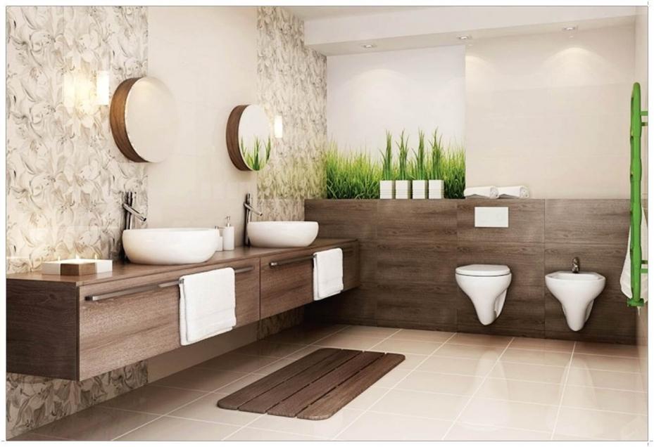 Badezimmer Braun Beige Kreativ On Für Bad Design 8