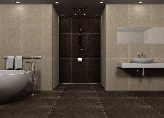 Badezimmer Braun Beige Stilvoll On In Bezug Auf Bad Wohndesign 5