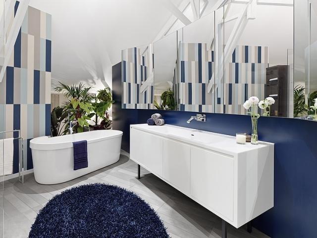 Badezimmer Dunkelblau Exquisit On überall Bad Peerless Auf Zusammen Mit Oder In 6