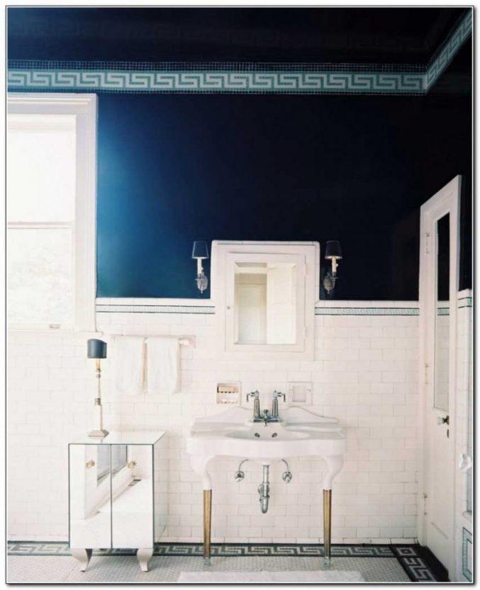 Badezimmer Dunkelblau Perfekt On In Bezug Auf Uncategorized Kleines Und Innenbereich 7