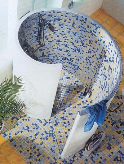Badezimmer Duschschnecke Fein On Für Eine Ist Glasmosaik Ideal 5