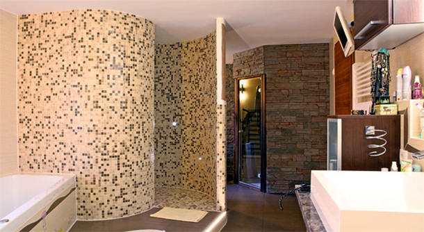Badezimmer Duschschnecke