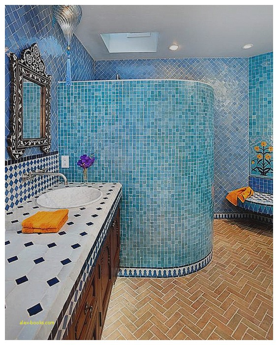 Badezimmer Duschschnecke Großartig On In Marokkanisch Inspirational Blaue Mosaik Fliesen 6