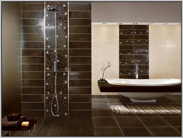 Badezimmer Fliesen Braun Beeindruckend On Beabsichtigt Einfach Bad Wohndesign 9