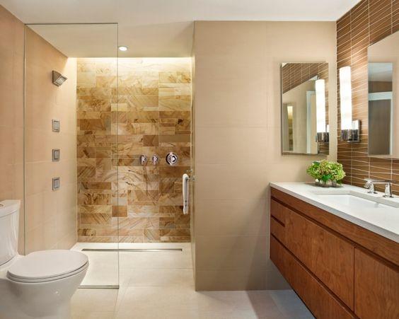 Badezimmer Fliesen Braun Großartig On Beabsichtigt Bad Braune Magnificent Moderne 3