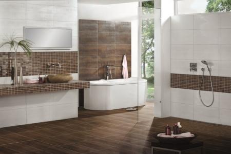 Badezimmer Fliesen Braun Modern On In Bezug Auf Formatzweck Bad Creme Besonnen Interieur Dekor 6