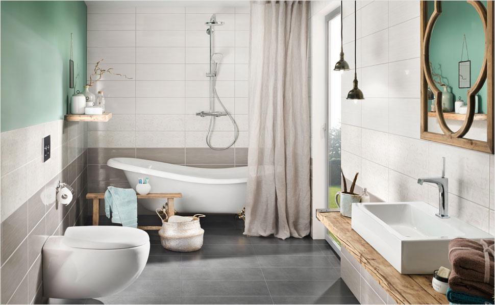 Badezimmer Fliesen Elfenbein Großartig On In Ideen Für Wohnzimmer Küche Von HORNBACH 4