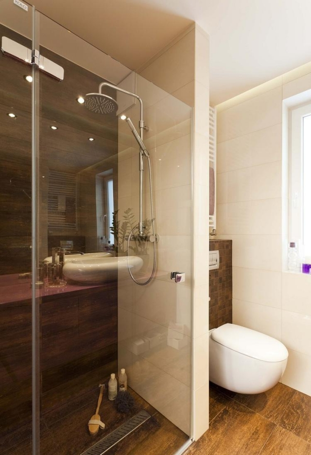 Badezimmer Fliesen Holzoptik Interessant On Beabsichtigt 32 Moderne Badideen In Verlegen 1