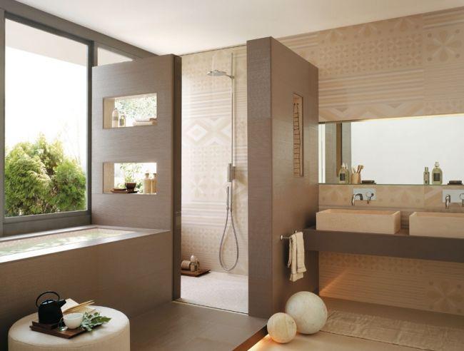 Badezimmer Fliesen Ideen Beige Stilvoll On Beabsichtigt Die Besten 25 Auf Pinterest Badideen In 8