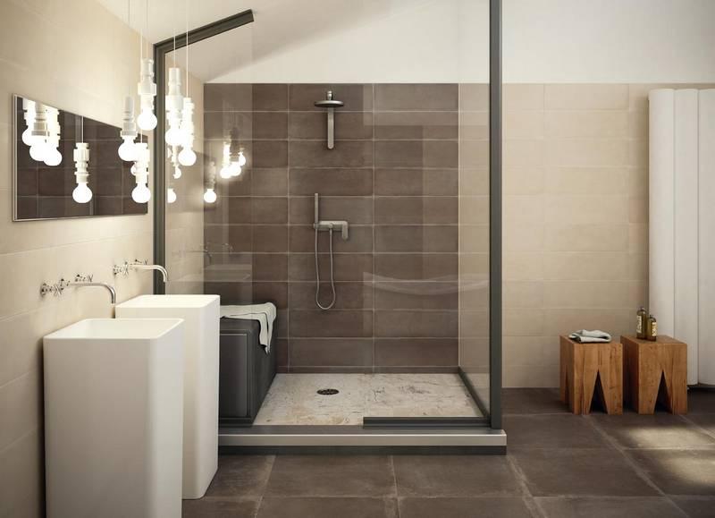 Badezimmer Fliesen Sandfarben Modern Kreativ On In Bezug Auf Wohndesign 8