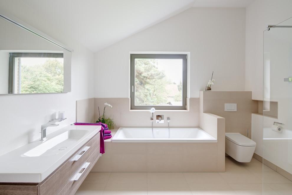 Badezimmer Fliesen Sandfarben Modern On Beabsichtigt In Beige Gestalten Tipps Und Ideen 2
