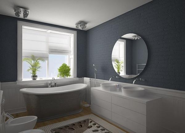 Badezimmer Grau Weiß Schön On In Bezug Auf 50 Ideen Für 1