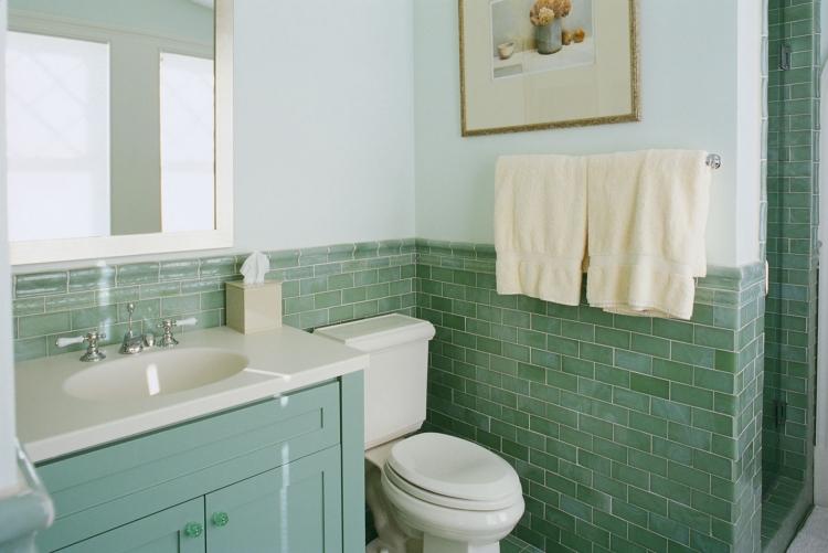 Badezimmer Grün Bescheiden On Beabsichtigt Die Beste Farbe Für Aussuchen 50 Beispiele 8