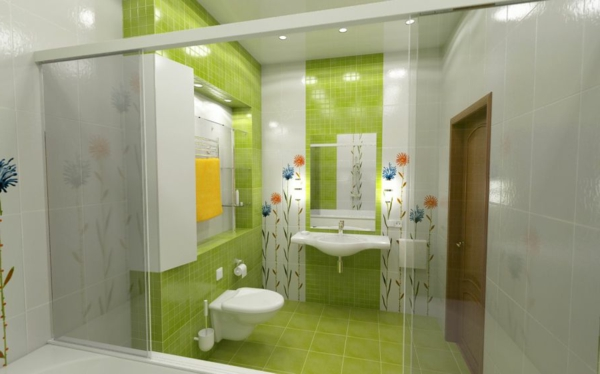 Badezimmer Grün Nett On Und Fliesen Bad 40 Ideen Deko Badmöbel Home 6