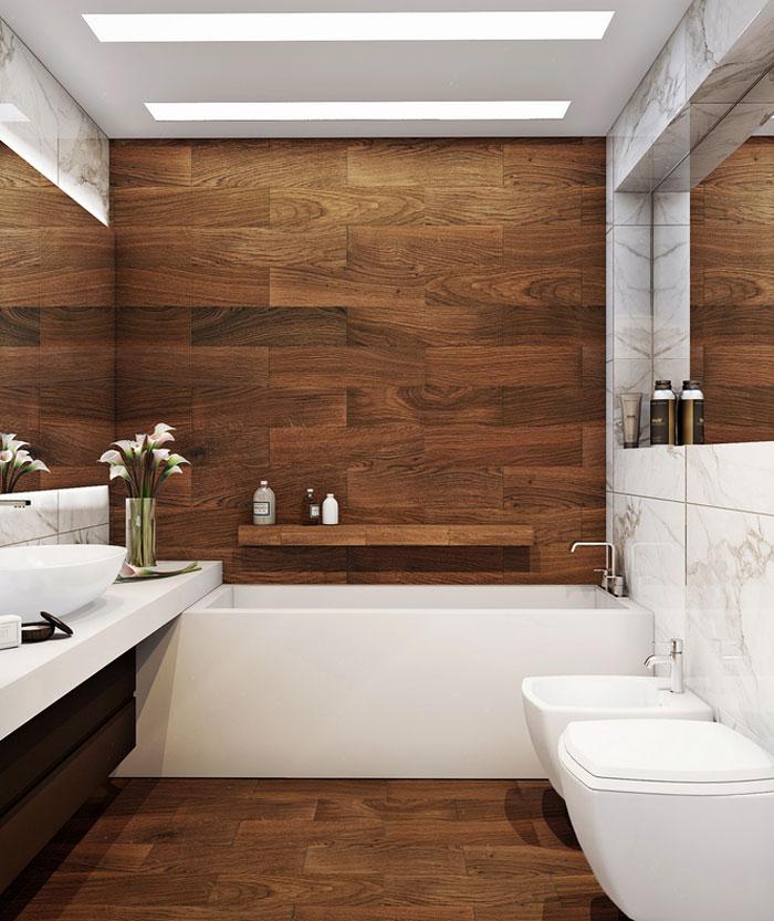 Badezimmer Holzfliesen Beeindruckend On überall Design 4