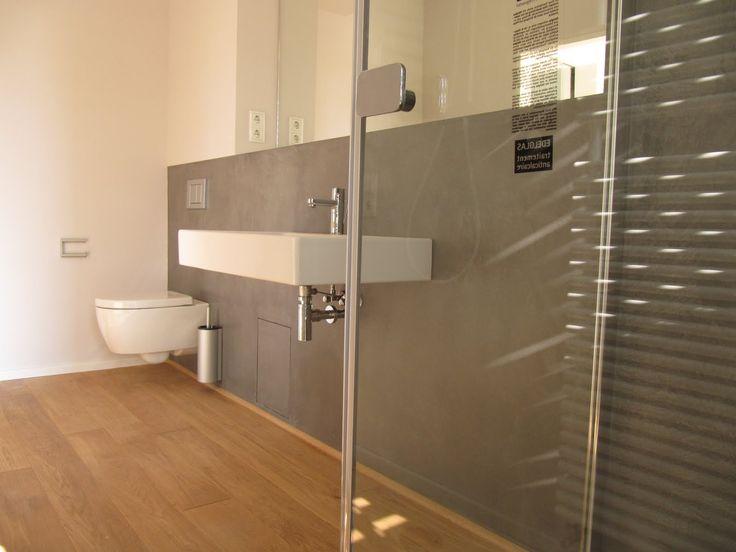 Badezimmer Holzfliesen Unglaublich On Und Beton Cire Weiß Pinterest Small 3