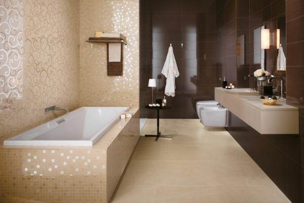Badezimmer Ideen Braun Perfekt On Und Beige Design 6
