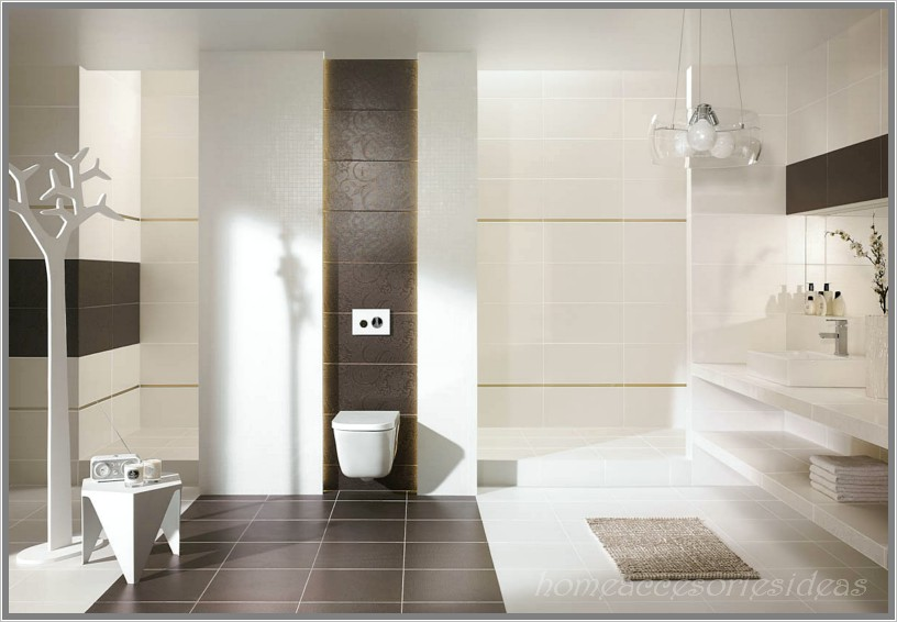 Badezimmer Ideen Braun Schön On überall Bad Fliesen Interior Design 1