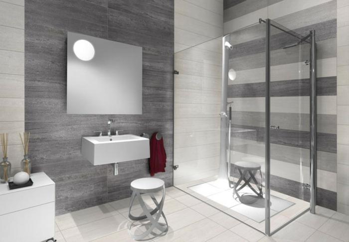 Badezimmer In Grau Modern On Beabsichtigt Beige Design 3