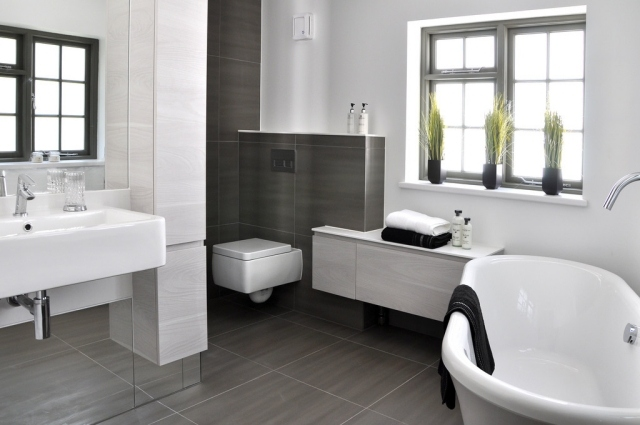 Badezimmer Modern Grau Bescheiden On Mit Bad Anthrazit Wohndesign 1