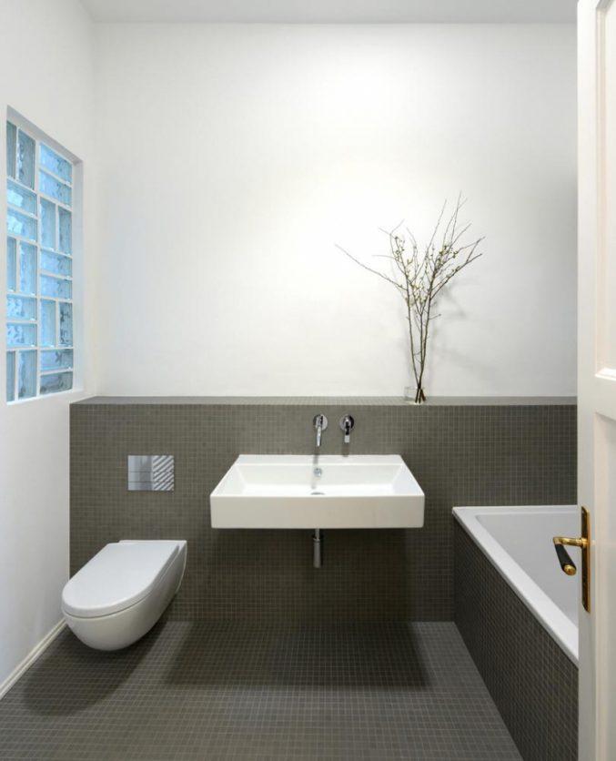 Badezimmer Modern Grau On Beabsichtigt Uncategorized Kühles Und 2
