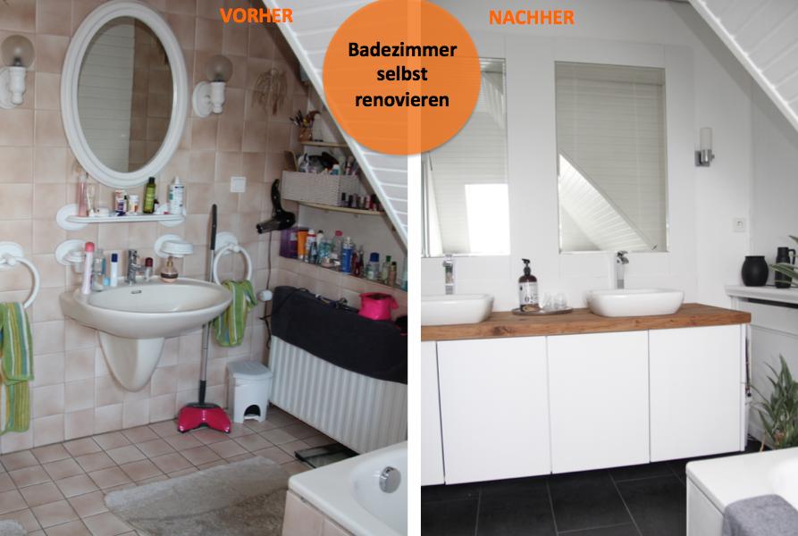 Badezimmer Selber Renovieren Herrlich On Auf Selbst Vorher Nachher DESIGN DOTS 2