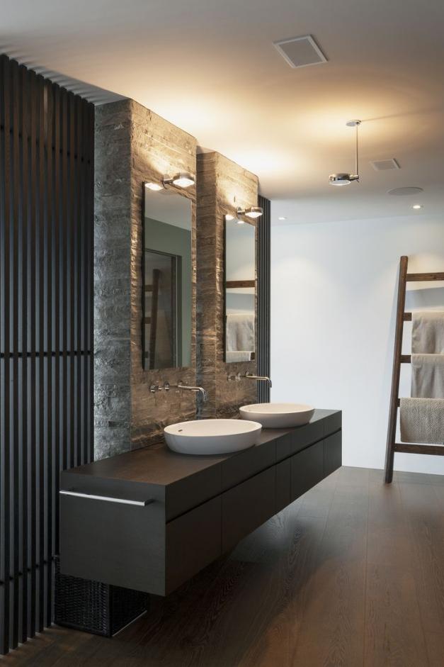 Badezimmer Stein Bescheiden On Für Design 9