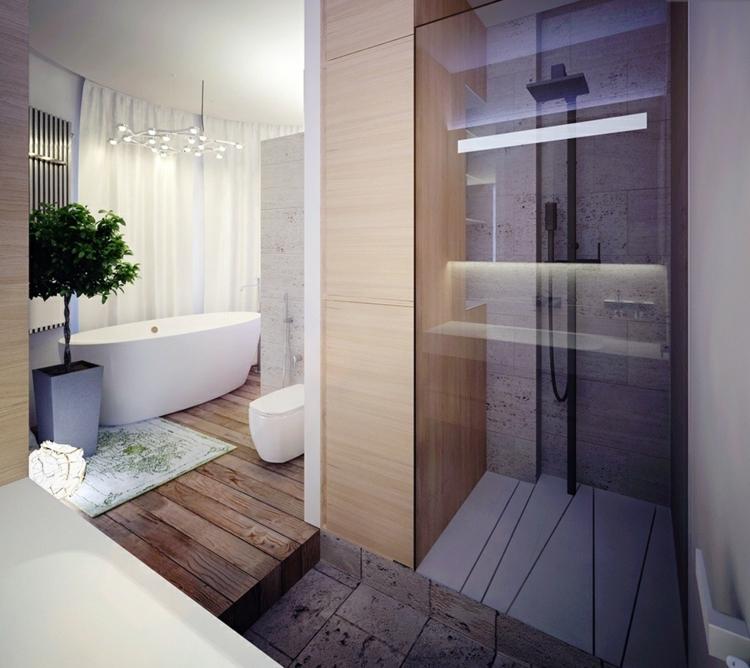 Badezimmer Stein Exquisit On Beabsichtigt 105 Design Ideen Und Holz Kombinieren 1