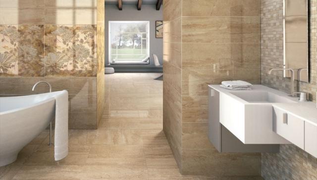 Badfliesen Grau Beige Perfekt On überall Badezimmer Gefliest Verzaubern Fliesen Bad 9