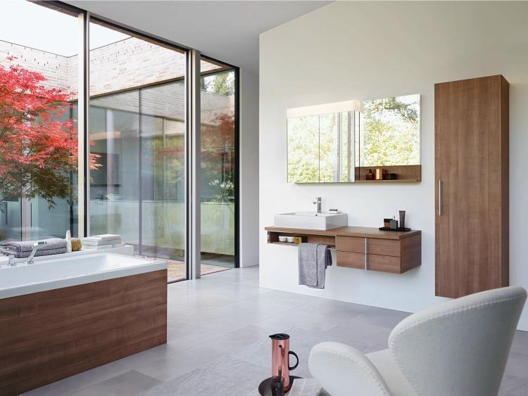 Badmöbel Modern Unglaublich On Auf Aus Holz 50 Moderne Sets Fürs Bad Als Inspirationen 1