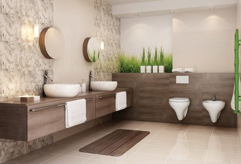 Beige Badezimmer Beeindruckend On In Bezug Auf Bad Braun Wohndesign 4