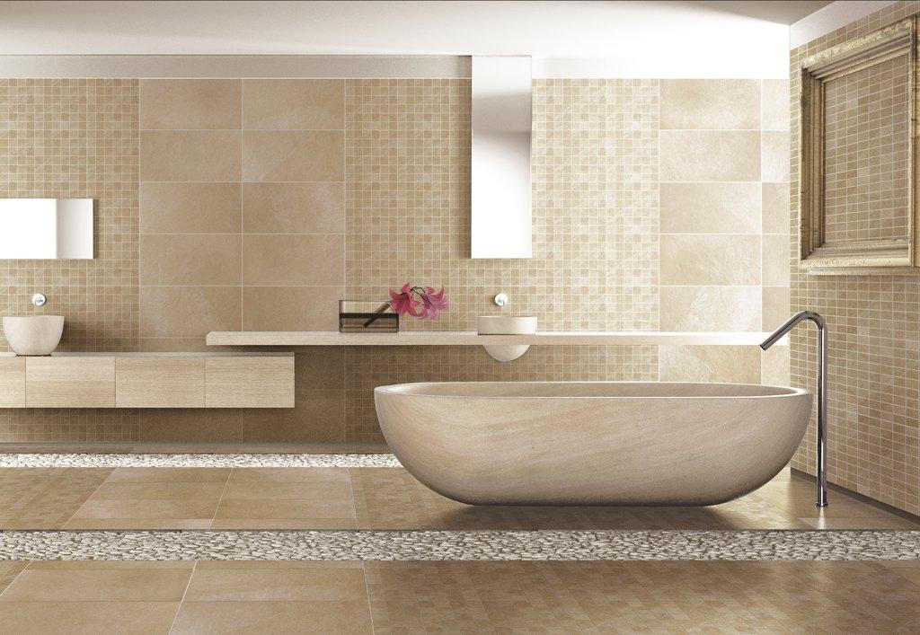 Beige Badezimmer Charmant On In Bezug Auf Fliesen Wohndesign 6