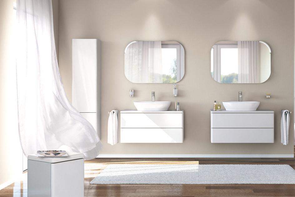 Beige Badezimmer Fein On Beabsichtigt Zartes Und Weiß Wirken Edel Bild 9 SCHÖNER WOHNEN 7